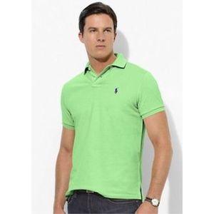 Men's Ralph Lauren Polo Shirt in Lime Green